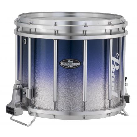 Pearl Marching Percussion: 13X11 Maple Carboncore Ffx Marching Snare Drum, W/R Ring #962 - Blue Silver Fade (Top)