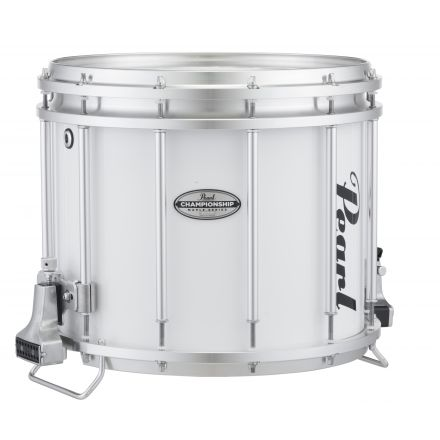 Pear 14X12 Championship Maple Ffx Marching Snare - Pure White