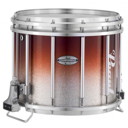 Pearl Marching Percussion: 13X11 Championship Maple Ffx Marching Snare Drum, W/R Ring #974 - Garnet Silver Fade (Top)