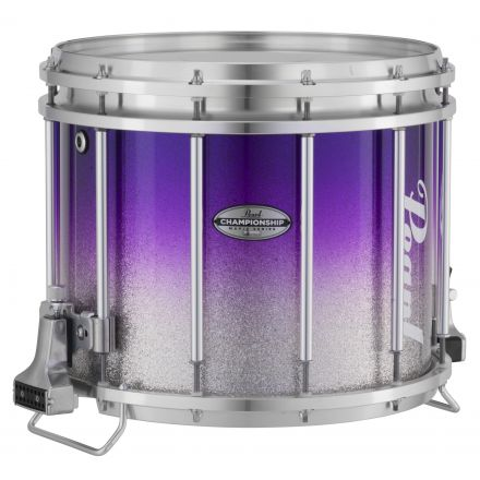 Pearl : 13X11 Championship Maple Ffx Marching Snare Drum, W/R Ring #977 - Purple Silver Fade (Top)