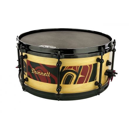 Dunnett Classic MonoPly Milkwood Snare Drum 14x6.5 Hand-Carved by James Michels