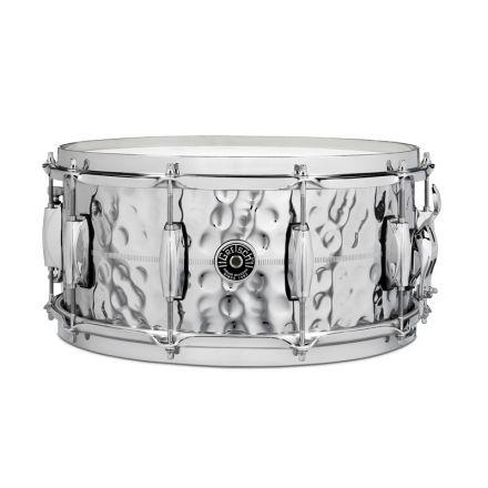 Gretsch Brooklyn Hammered Chrome Over Brass Snare Drum 14x6.5