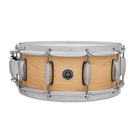 Gretsch Brooklyn Straight Satin Snare Drum 14x5.5 10-Lug w/Key Holder -Natural