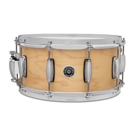 Gretsch Brooklyn Straight Satin Snare Drum 14x6.5 10-Lug w/Key Holder - Natural