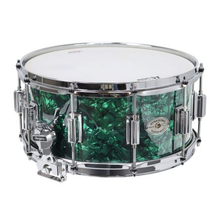 Rogers Dyna-Sonic Wood Shell Snare Drum - Green Marine Pearl - 14x6.5