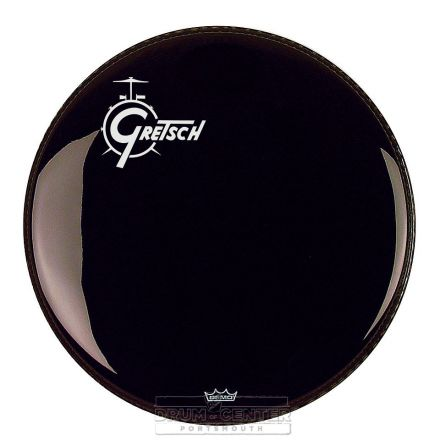 Gretsch Bass Drum Head Ebony 20 With Offset Logo