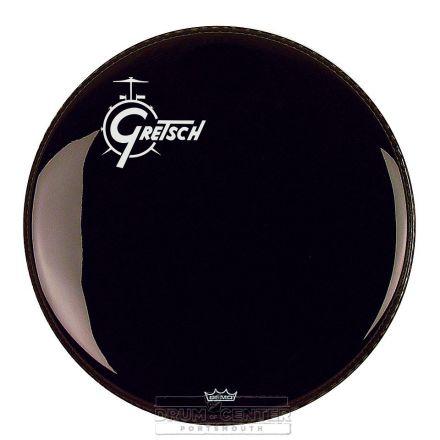 Gretsch Bass Drum Head Ebony 18 With Offset Logo