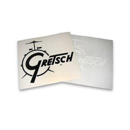 Gretsch Vinyl Bass Drum Decal - Black