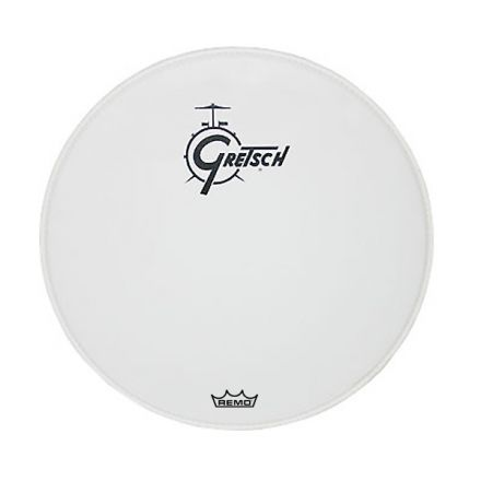 """Gretsch 22"""" White Center Logo Bass Drum Head"""