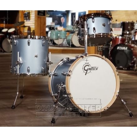 Gretsch Brooklyn 3pc Jazz Drum Set w/ Tom Arm Satin Ice Blue Metallic