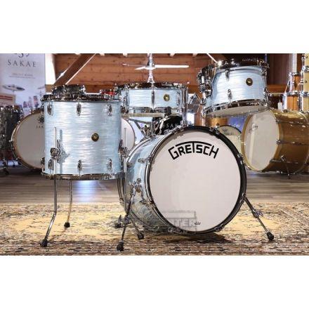 Gretsch Broadkaster 4pc Jazz Drum Set Vintage Oyster White