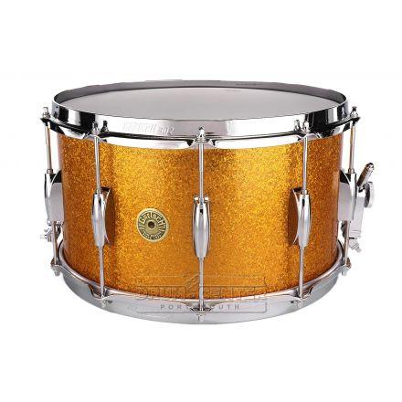 Gretsch Broadkaster Snare Drum 14x8 10-Lug Gold Sparkle w/MS Strainer