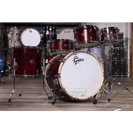 Gretsch Brooklyn 5pc Euro Drum Set Satin Cherry Red