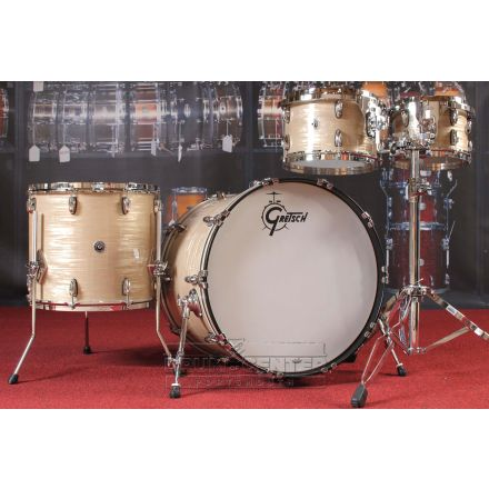 Gretsch Brooklyn 4pc Euro Drum Set Creme Oyster