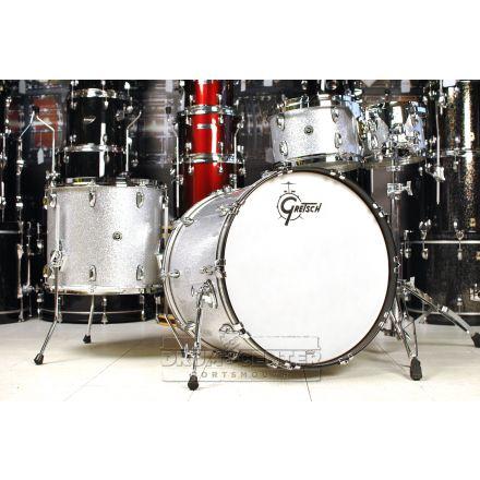 Gretsch Brooklyn 4pc Euro Drum Set Silver Sparkle