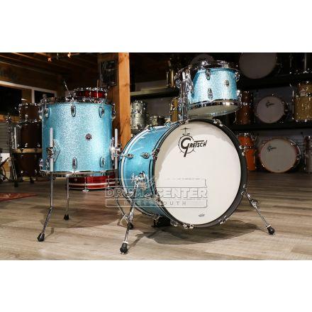 Gretsch Brooklyn 3pc Jazz Drum Set Turquoise Sparkle w/ Tom Arm