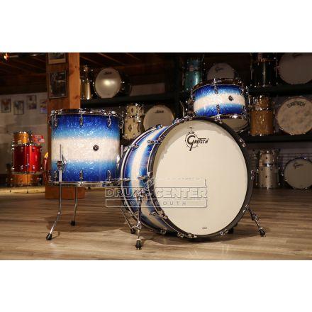 Gretsch Brooklyn 3pc Rock Drum Set w/24bd - Blue Burst Pearl