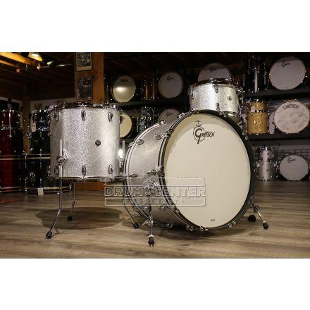Gretsch Brooklyn 3pc Rock Drum Set w/24bd - Silver Sparkle