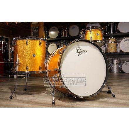 Gretsch Brooklyn 3pc Rock Drum Set w/24bd - Gold Sparkle