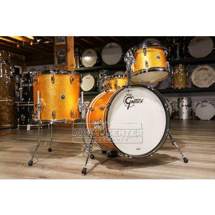 Gretsch Brooklyn 4pc Jazz Drum Set Gold Sparkle w/ Tom Arm