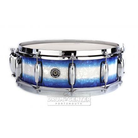 Gretsch Brooklyn Snare Drum 14x5 10-Lug w/ Lightning Blue Burst Pearl