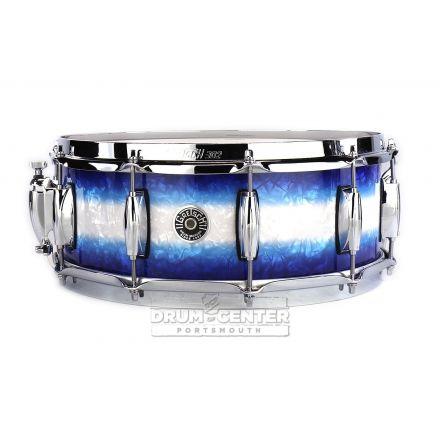 Gretsch Brooklyn Snare Drum 14x5.5 10-Lug w/ Lightning Blue Burst Pearl