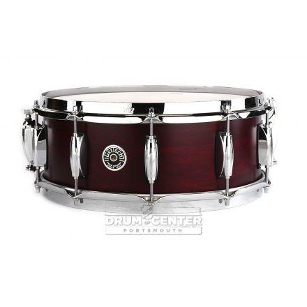 Gretsch Brooklyn Snare Drum 14x5.5 10-Lug w/ Lightning Satin Cherry Red