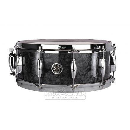 Gretsch Brooklyn Snare Drum - 14x5.5 - Deep Black Marine Pearl - 10 Lug w/ Lightning