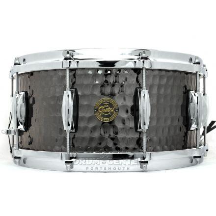 Gretsch Full Range Hammered Black Steel Snare Drum 14x6.5