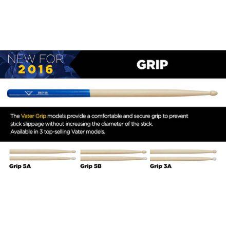 Vater Drum Sticks : Grip 3A Nylon Tip
