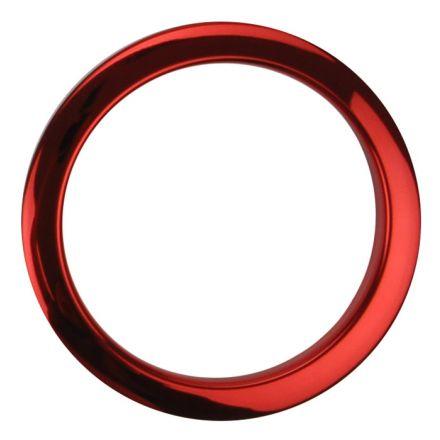 """Bass Drum O's Bass Drum Port 4"""" Red Chrome"""