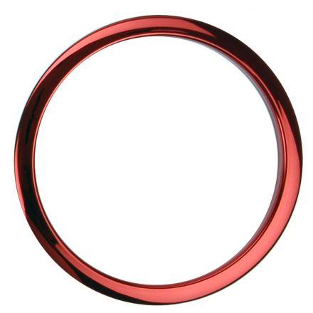 """Bass Drum O's Bass Drum Port 6"""" Red Chrome"""
