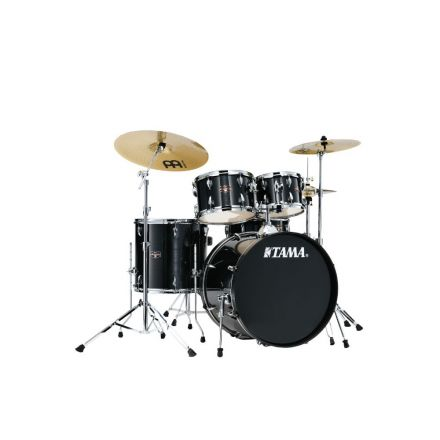 Tama Imperialstar 5pc Complete Drum Set w/ Meinl HCS Cymbals Hairline Black - IE52CHBK