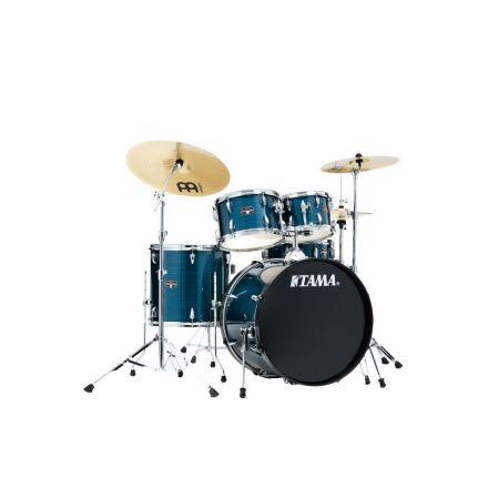 Tama Imperialstar 5pc Complete Drum Set w/ Meinl HCS Cymbals Hairline Blue