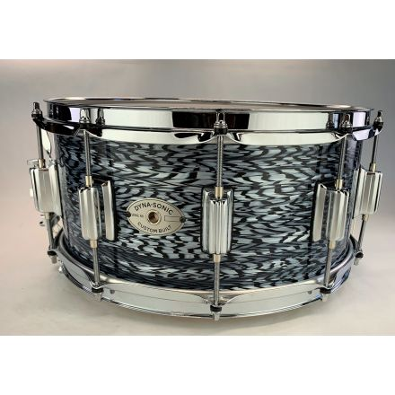 Rogers Dyna-sonic Wood Shell Snare Drum 14x6.5 Black Onyx Beavertail