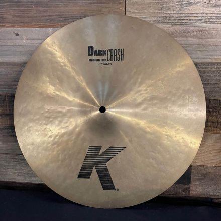 Used Zildjian K Dark Medium Thin Crash Cymbal 16