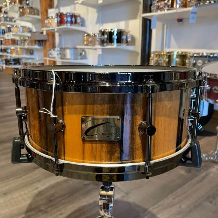 Used Canopus One Of A Kind Beech 14x6 Snare Drum Gloss Ebony Ivory