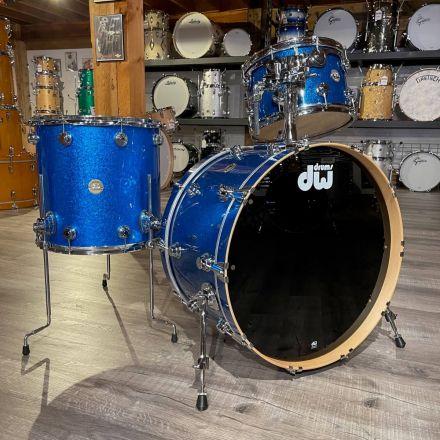 Used DW Collectors Maple 3pc Drum Set - Blue Sparkle w/ Cases