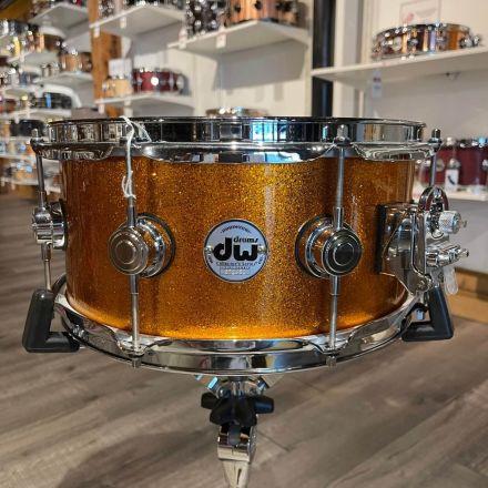 Used DW Collectors Series Orange Sparkle Lacquer Snare Drum 13x6