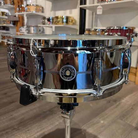 Used Gretsch Brooklyn Chrome Over Brass Snare Drum 14x5