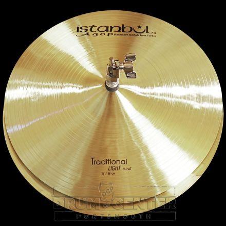 "Istanbul Agop Traditional Light Hi Hat Cymbals 15"""