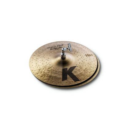 "Zildjian K Custom Dark Hi Hat Cymbals 13"""