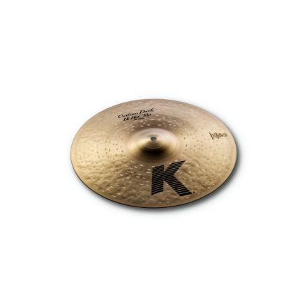 "Zildjian K Custom Dark Hi Hat Cymbal Top 14"""
