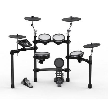 Kat KT-300 Electronic Drum Kit w/Remo Mesh Heads, Kick Pedal & Tennis Beater