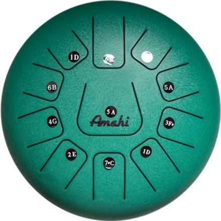 Amahi Steel Tongue Drum 12 - Green