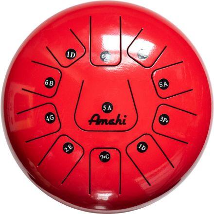 Amahi Steel Tongue Drum 12 - Red