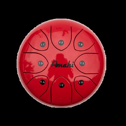 Amahi Steel Tongue Drum 6 - Red