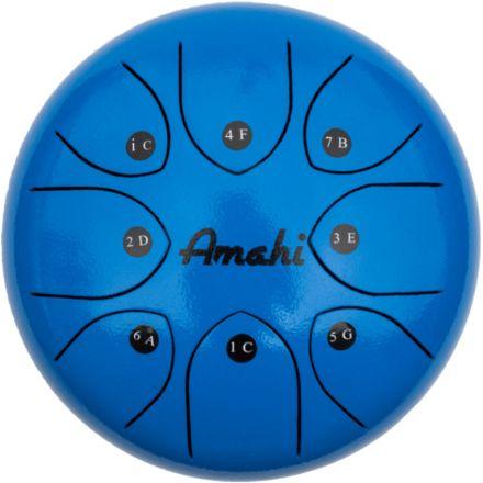 Amahi Steel Tongue Drum 8 - Blue