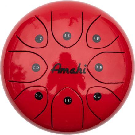 Amahi Steel Tongue Drum 8 - Red