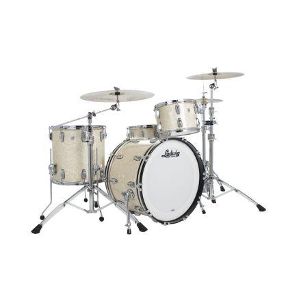 Ludwig Classic Oak 3pc Fab Drum Set Vintage White Marine